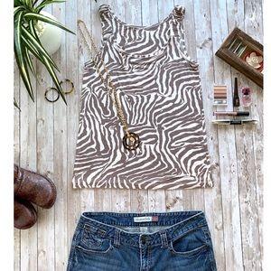 Anne Taylor Loft zebra print top